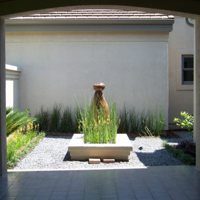 Landscaping Services - Austin, TX - Courtyard Bench