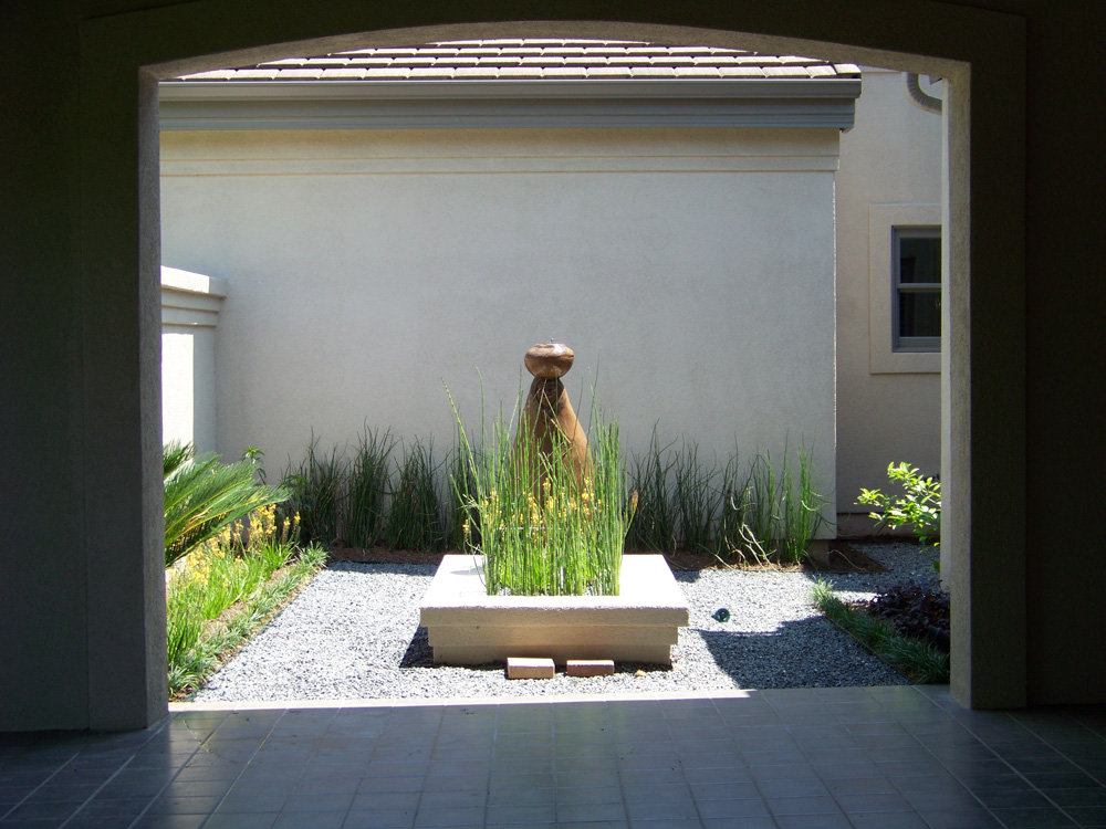 Courtyard Landscape Bench - Landscaping Services - Austin, TX | YardDoc Lawn Care
