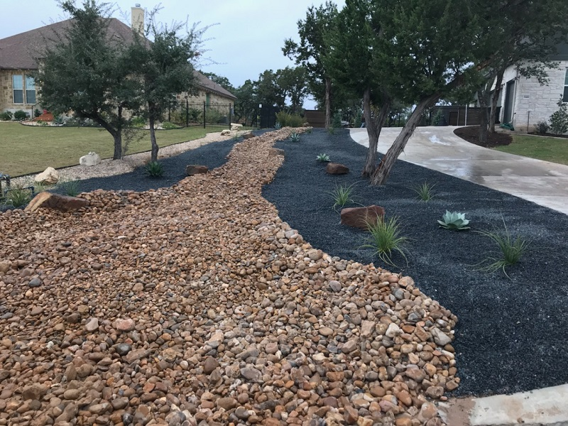 Rock Landscaping Ideas - YardDoc - Austin, TX - Riverbed landscaping rock