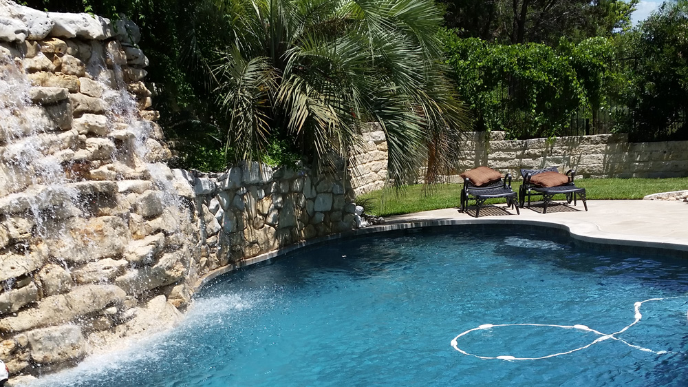 Pool Cleaning - Pool Service - YardDoc - Pflugerville, TX - Beautiful view of outdoor pool