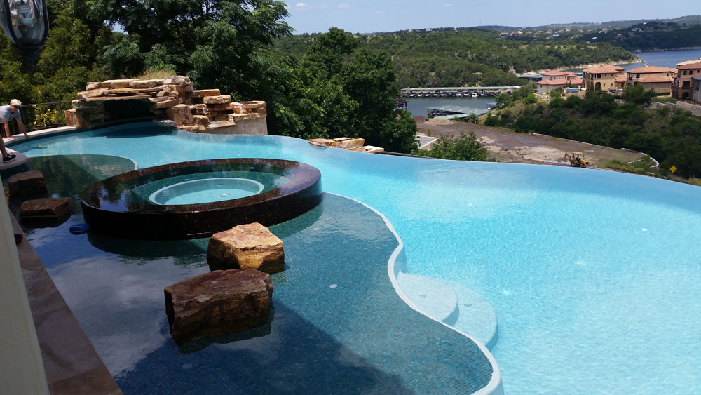 Pool Service - YardDoc - Cedar Park, TX - Gorgeous scenic view from outdoor pool