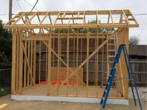 Handyman Services - YardDoc - Cedar Park, TX - Framing up storage shed