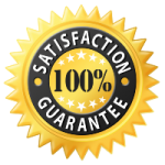 Satisfaction Guarantee Gold Transparent Background