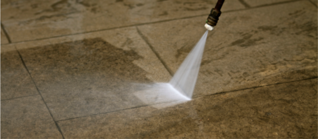 Pressure Washing Patio - YardDoc - Austin, TX - Pressure Cleaning a Patio