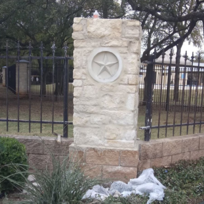 Handyman Services - YardDoc - Sunset Valley, TX - Stone Column Repair