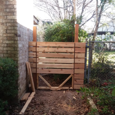 Handyman Services - YardDoc - Tarrytown, TX - Wooden Fence Gate Construction