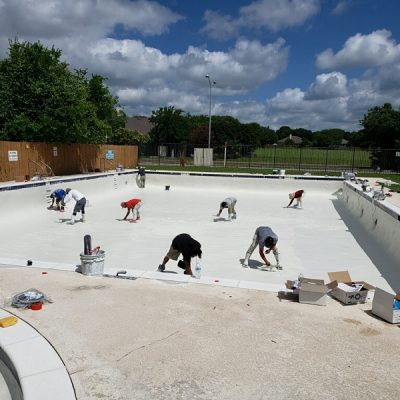 Swimming Pool Resurfacing in Process - Round Rock, TX