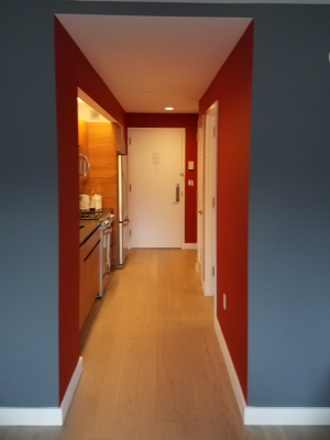 Handyman Services - Professional Painters - Blue and Red Accent Walls w White Trim - YardDoc